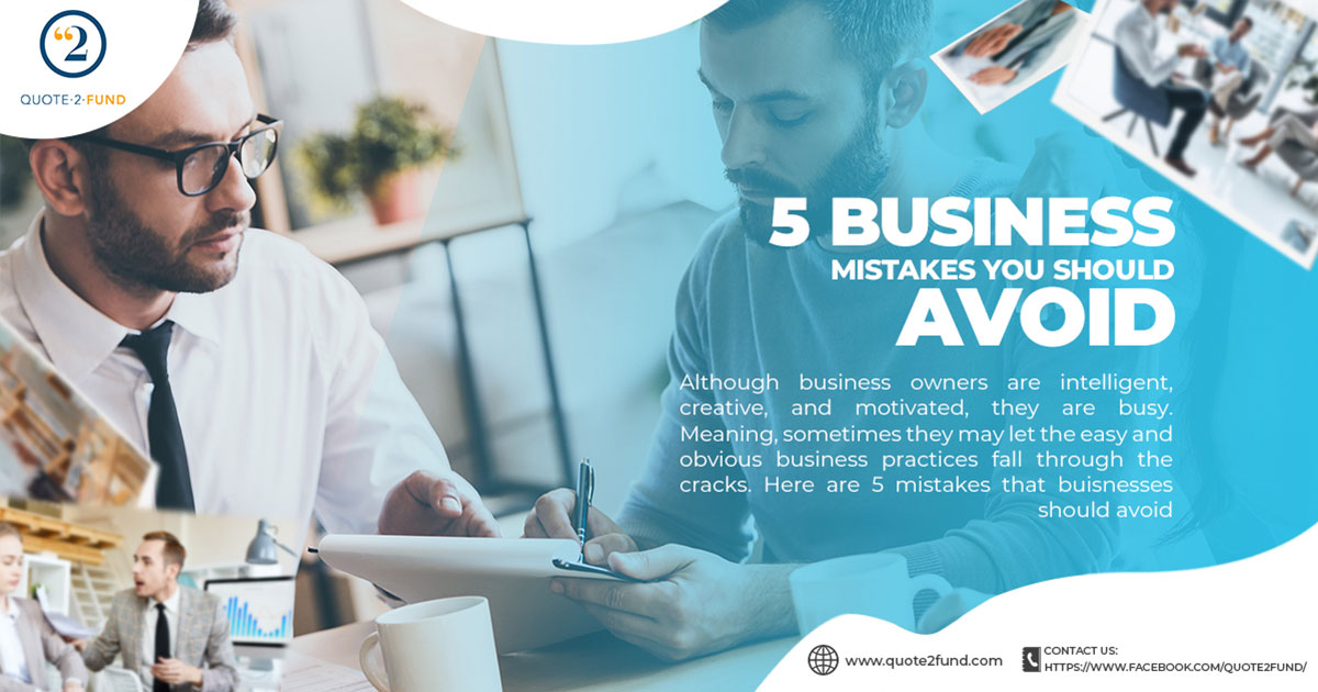 5 Business Mistakes You Should Avoid
